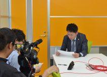 インタビューの撮影風景です。