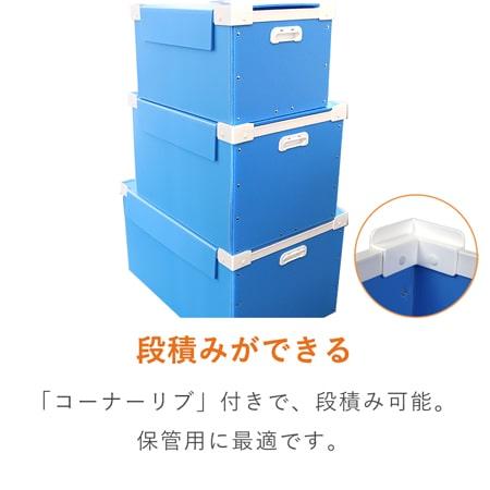 【宅配120サイズ】プラダンコンテナ(上フタ・取っ手付)通い箱・保管用