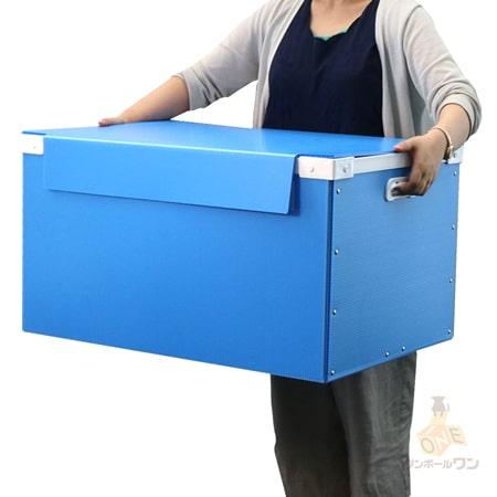 【宅配160サイズ】プラダンコンテナ(上フタ・取っ手付)通い箱・保管用