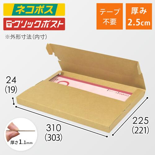 【ネコポス・クリックポスト】A4厚さ2.5cm・テープレスケース