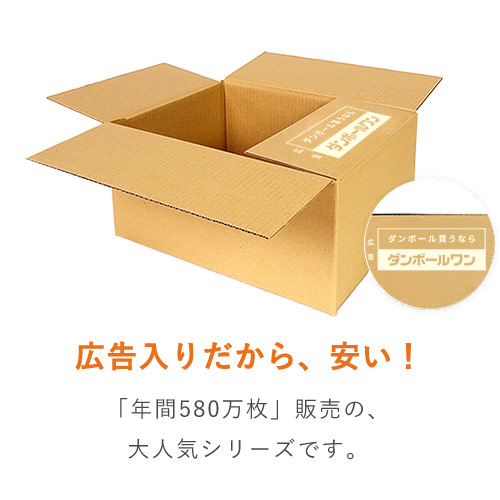 【広告入】宅配80サイズ 段ボール箱※キャンペーン価格※