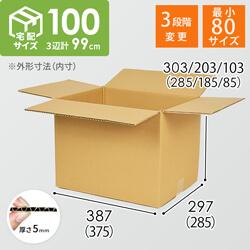 【宅配100サイズ】高さ変更可能ダンボール箱
