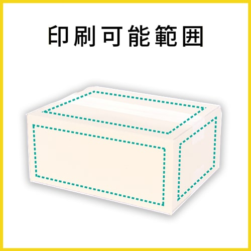 【名入れ印刷】宅配60サイズ ダンボール箱・白(クロネコボックス6)