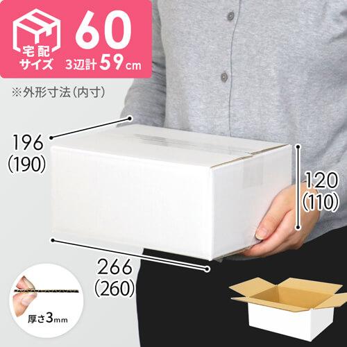 【宅配60サイズ】白ダンボール箱(クロネコボックス6)
