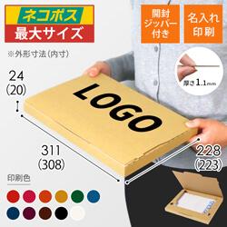 【名入れ印刷】A4厚さ2.5cm・ジッパー付きケース(ネコポス最大)