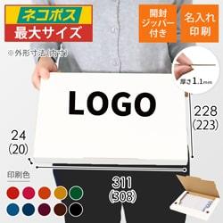 【名入れ印刷】A4厚さ2.5cm・ジッパー付きケース・白(ネコポス最大)