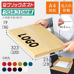 【名入れ印刷】A4厚さ2cm・ヤッコ型ケース(クリックポスト・クロネコDM便)