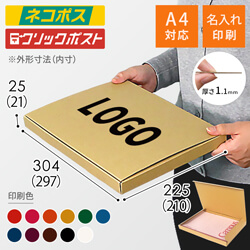 【名入れ印刷】A4厚さ2.5cm・N式ケース(ネコポス・クリックポスト)