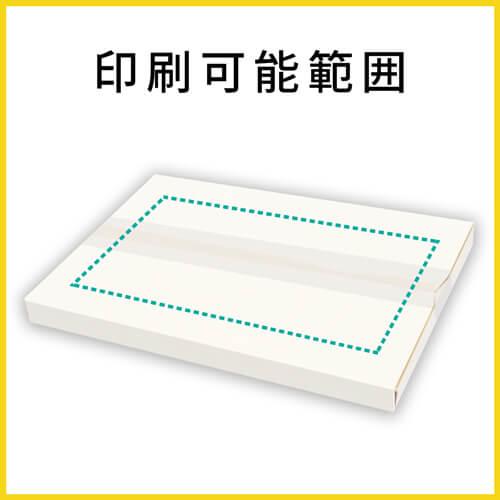 【名入れ印刷】B5厚さ2.5cm・ヤッコ型ケース・白(ネコポス・クリックポスト)