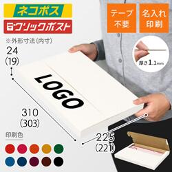 【名入れ印刷】A4厚さ2.5cm・テープレスケース・白(ネコポス・クリックポスト)