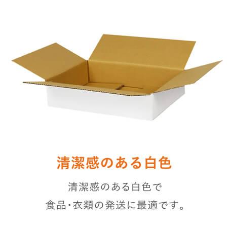 【宅配60サイズ】白ダンボール箱 薄型 A4サイズ(300×211×64mm)