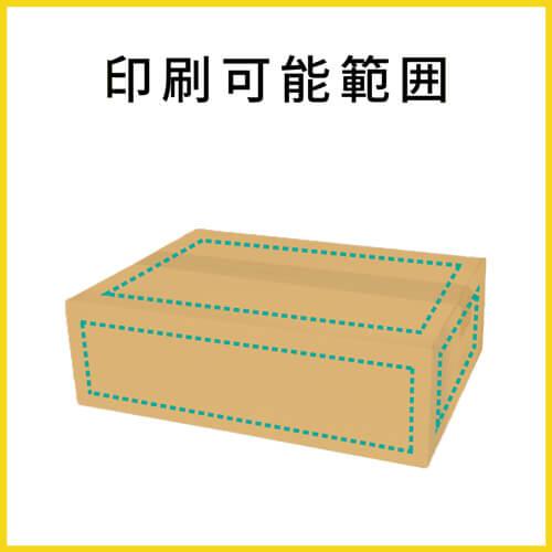 【名入れ印刷】宅配80サイズ ダンボール箱 薄型(340×245×100mm)