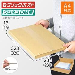 【クリックポスト・クロネコDM便】A4厚さ2cm・ヤッコ型ケース※材質変更しました