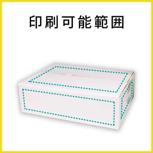 【名入れ印刷】宅配80サイズ ダンボール箱・白 薄型(340×245×100mm)