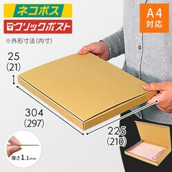 【ネコポス・クリックポスト】A4厚さ2.5cm・N式ケース※材質変更しました