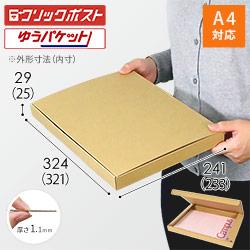 【クリックポスト・ゆうパケット】A4厚さ3cm・N式ケース