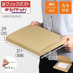 【クリックポスト・ネコポス(個人フリマ向け)】A4厚さ3.0cm・ジッパー付きケース