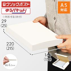 【クリックポスト・ゆうパケット】A5厚さ3cm・N式ケース(白)