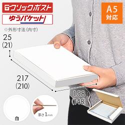 【クリックポスト・ゆうパケット】A5厚さ2.5cm・N式ケース(白)