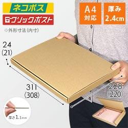 【ネコポス・クリックポスト】A4厚さ2.4cm・N式ケース