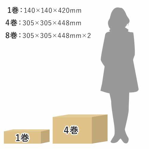 エアークッションフィルム(バブル小粒・400×300mm)200m巻(約666シート分) ※「ACU-MAKE02」専用