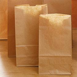 角底袋(茶)幅195×マチ125×高さ400mm
