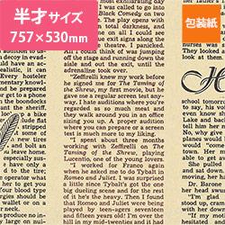 包装紙(フェザーイニシャル・薄茶)半才(757×530mm)