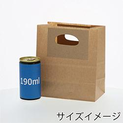 手提げクラフト袋S(茶)
