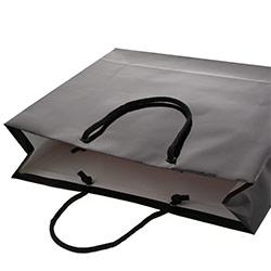 手提げ紙袋(黒・ツヤ有り)幅330×マチ100×高さ300mm
