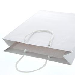 手提げ紙袋(白・ツヤ有り)幅330×マチ100×高さ450mm
