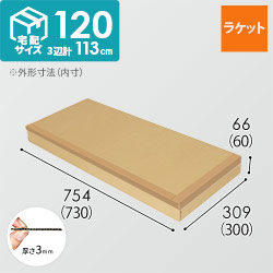 【ラケット】梱包・発送用 ダンボール箱・宅配120サイズ
