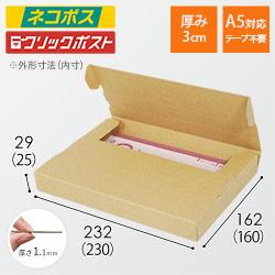 【ネコポス・クリックポスト】A5厚さ3cm・テープレスケース