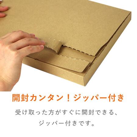 【クリックポスト・ゆうパケット】A4厚さ3cm・ジッパー付ケース