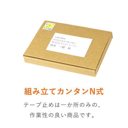 【定形外郵便】A6(はがきサイズ)厚さ2㎝・N式ケース