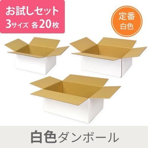 【セット】白定番ダンボール 3種 各20枚