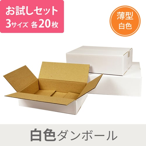 【セット】白ダンボール 3種 各20枚