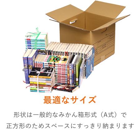 【宅配100サイズ】収納・引越し用ダンボール箱(持ち手穴付き)