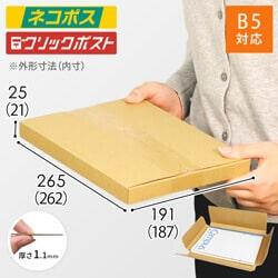 【ネコポス・クリックポスト】B5厚さ2.5cm・ヤッコ型ケース