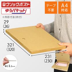 【クリックポスト・ゆうパケット】A4厚さ3cm・テープレスケース