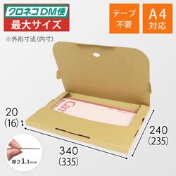 【クロネコDM便最大・ゆうパケット】A4厚さ2cm・テープレスケース
