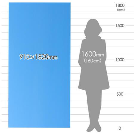 養生プラダンシート 三六判(幅910×長さ1820mm)4mm厚・水色