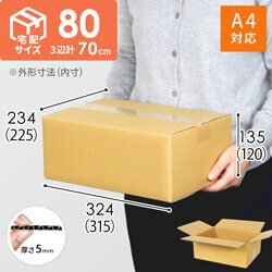 【宅配80サイズ】A4サイズ 定番段ボール箱(DA003)