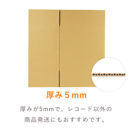 【宅配100サイズ】LPレコード50枚用 ダンボール箱