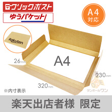 【楽天ロゴ入り】A4厚さ2cm・ヤッコ型ケース