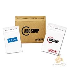 【オリジナル印刷 2色】クッション封筒・白(DVDサイズ)