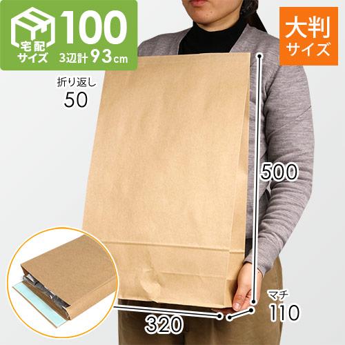 宅配袋 LL(茶) テープ付き
